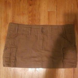 Juniors wet seal brown mini skirt size 9